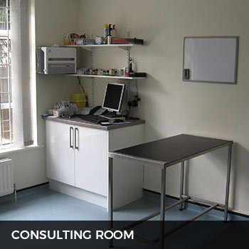 vetinary consulting room at metrovets